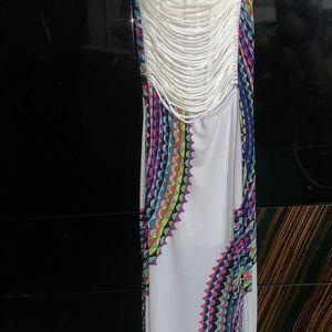 Fashion nova summer dress with open back